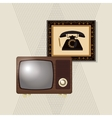 colorful retro tv design vector image