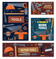 construction industry house repair tools vector image vector image