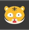 cute tiger emoticon flat style vector image vector image