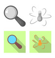 design of education and learning icon set vector image