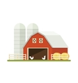 Farm isolated on white background Flat vector image