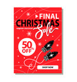 final christmas sale placard vector image