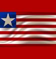 flag liberia realistic waving republic vector image vector image