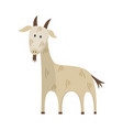 flat goat icon vector image vector image