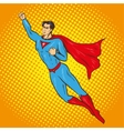 flying up superman retro vector image vector image