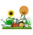 garden accessories concept vector image