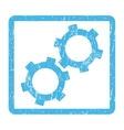 Gears Icon Rubber Stamp vector image