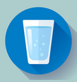 glass of water icon flat design vector image