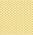 gold interlocking pattern vector image vector image