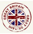great Britain grunge ink stamp vector image vector image