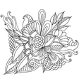 Hand drawn artistic ethnic ornamental patterned vector image vector image