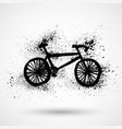 hand drawn city bicycle in ink hand drawn vector image