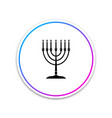 hanukkah menorah icon isolated on white background vector image