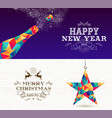 happy new year 2019 merry christmas bottle star vector image vector image