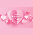 happy valentines day greeting cards with paper vector image vector image