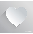 heart flat icon design vector image vector image