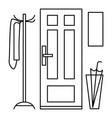 home door interior icon outline style vector image vector image