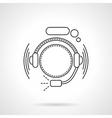 Hotline icon flat line icon vector image vector image