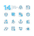 Human resources - set line design style icons