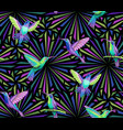 hummingbirds pattern vector image vector image