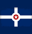indianapolis city flag vector image