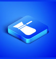 Isometric coffee turk icon isolated on blue
