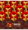 Isometry background vector image