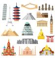 Landmarks set in flat design vector image vector image