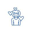 love line icon concept love flat symbol vector image