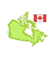 map and flag as a national canadian culture symbol vector image
