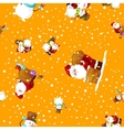 Merry Christmas and Happy New Year Friends Santa vector image vector image