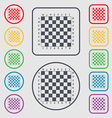 Modern Chess board icon sign symbol on the Round vector image vector image