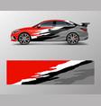 modern racing car wrap strip for racing sport car vector image vector image