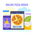 online pizza order concept vector image vector image