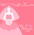 pink wedding bride vector image vector image