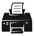 printing printer icon simple style vector image vector image