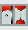 red business card vector image vector image