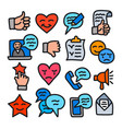 relationship management icons vector image vector image