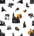 Seamless background with Halloween theme vector image
