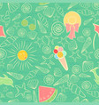 seamless pattern on summer sea vacation theme vector image vector image