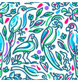 seamless tropical pattern birds paradise in vector image