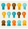 set colored badges labels awards in flat design vector image vector image