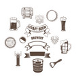 set craft beer element vector image
