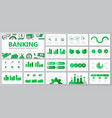 set of bank and money elements for multipurpose vector image vector image