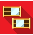 Shelf flat icon vector image