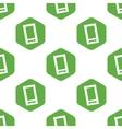 Smartphone pattern vector image vector image