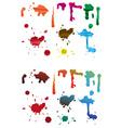 Spillage Blots vector image