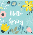 spring border vector image vector image