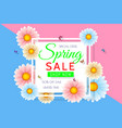 spring sale background design with beautiful vector image vector image