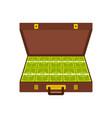 suitcase money icon flat style vector image